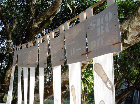 Création de l'atelier de l'association : les rideaux Skobido