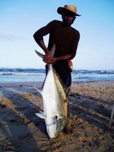 Pecheur de Carange à Madagascar