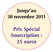 Prix spécial souscription : 25 euros